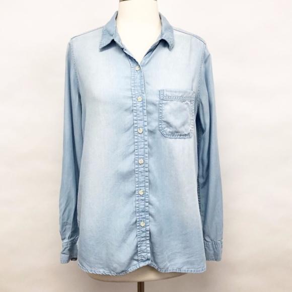 Target   mossimo chambray button down shirt sz L